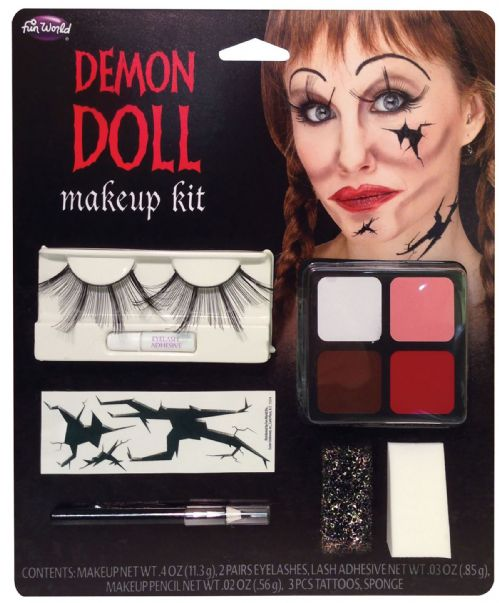Demon Doll Makeup Kit Devil Satan Lucifer Antichrist Halloween Cosmetic Artist